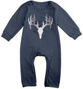 TONSILEA Deer Buck Skull Antlers Hunter Platinum Style Baby Boys' Romper Jumpsuit Outfits