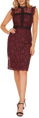 Occasion By Dex Sleeveless Lace Knee-Legnth Dress