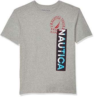 Nautica Men's Crewneck 100% Cotton Logo T-Shirt