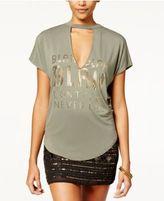 Belle Du Jour Juniors' Cutout Graphic T-Shirt