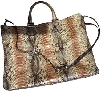 Fendi Camel Python Handbags