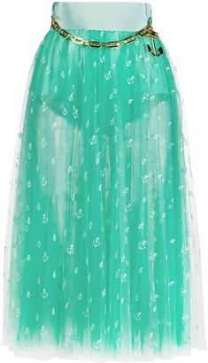 Elisabetta Franchi Embroidered Flared Skirt