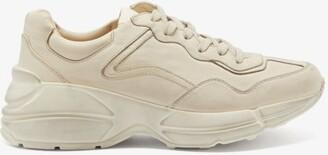 Gucci Rhyton Leather Trainers - Cream
