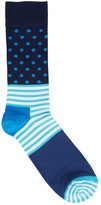 Happy Socks Stripe Dot Cotton Blend Socks