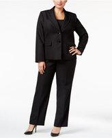 Le Suit Plus Size Two-Button Pique Pantsuit
