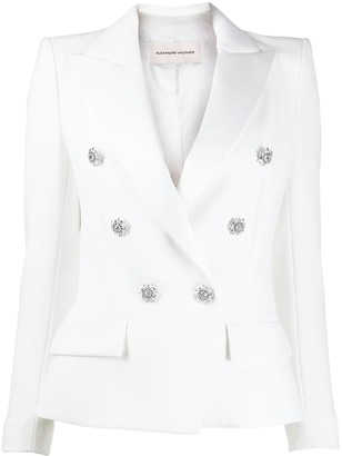 Alexandre Vauthier Crystal-Button Fitted Jacket
