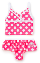 Pink Platinum Pink & White Polka Dot Tankini - Toddler