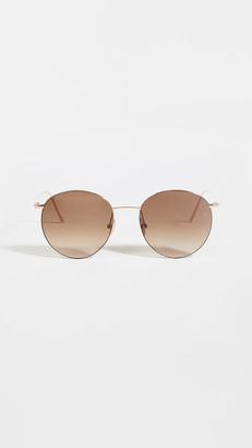 Linda Farrow Luxe Linda Farrow Foster Round Sunglasses