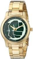 Marvel Men's W001783 The Avengers Hulk Analog-Quartz Gold Watch