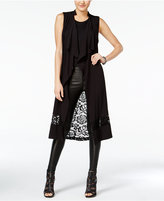 Material Girl Juniors' Lace-Back Maxi Vest, Only at Macy's