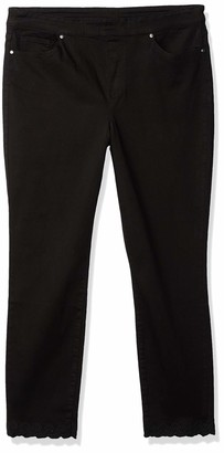 Tribal Women's Ankle Pant W/Embroidery