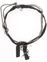 Maison Michel polka dot and chain headband