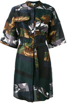 Kenzo Broken Camo shirt dress - women - Silk/Polyester - 36