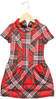 Junior Gaultier Girls' Quilted Plaid Dress
