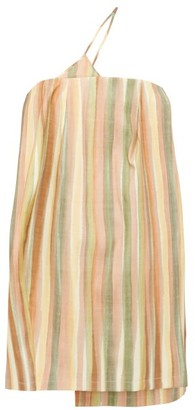 Jacquemus Soleil Striped Slubbed Mini Dress - Green Multi