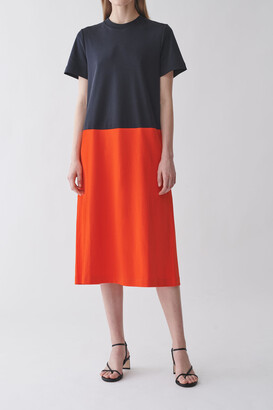 Cos Colour-Block Cotton Dress