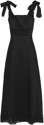Zimmermann Broderie Anglaise Linen Maxi Dress