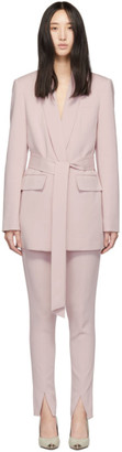Tibi Pink Oversized Tuxedo Blazer