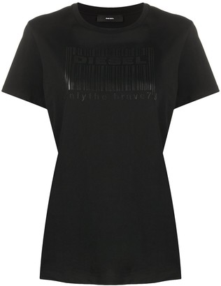 Diesel regular-fit barcode logo print T-shirt