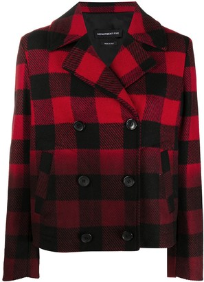 DEPARTMENT 5 Plaid Check Jacket