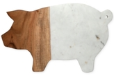 Thirstystone Wood and Marble Pig Serving Board