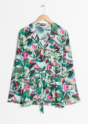 And other stories Tropical Belted Lounge Shirt