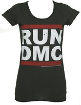 Amplified Womens Classic Run DMC Logo T Shirt from