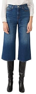 Maje Patou Medium-Wash Cropped Jeans