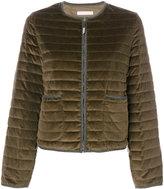 Fabiana Filippi crew neck zipped up puffer jacket