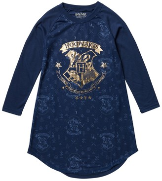Intimo Hogwarts Long Sleeve Raglan Crown Nightgown (Little Girls & Big Girls)