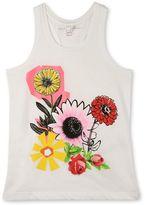 Stella McCartney graphic flowers valentine top