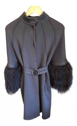 Roberto Cavalli Grey Wool Coats