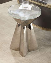Bernhardt Uma Stainless Steel & Glass Side Table