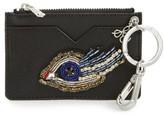 Sam Edelman Women's Carter Eye Embellished Faux Leather Card Case - Black