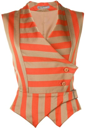 Issey Miyake Pre Owned Striped Waistcoat