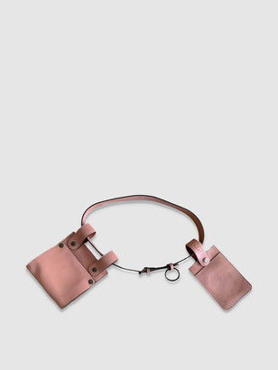 L2r The Label Sc1 | Double Belt Bag with Removable Pouches in Pink