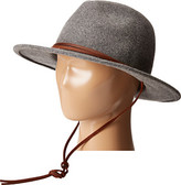 "San Diego Hat Company WFH7918 2.5"" Brim Felt Fedora w/ Leather Band & Chin Cord"