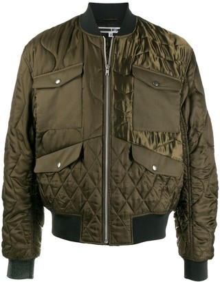 McQ Quilted Multi-Pocket Bomber Jacket