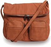 Co-Lab by Christopher Kon Cognac Foldover Crossbody Bag