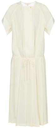 Low Classic Pleated voile midi dress