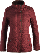 Weatherproof Wine Faux Fur-Lined Quilted Jacket
