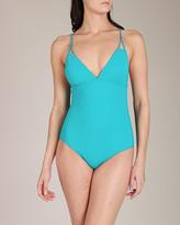 Karla Colletto Basic Cross Back Molded Swimsuit
