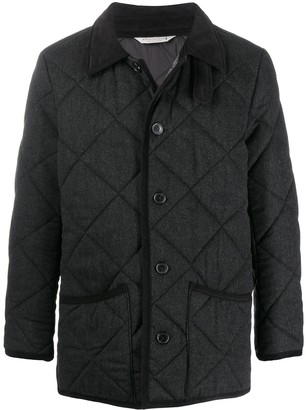 MACKINTOSH WAVERLY Charcoal Quilted Wool Jacket | GQ-1001