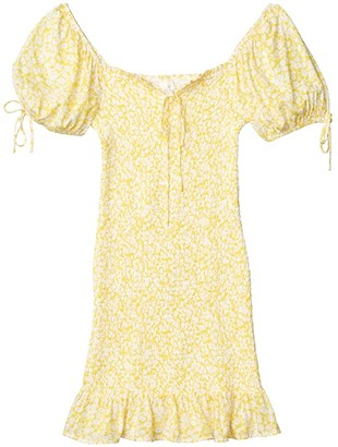 Lost + Wander Sweet Summer Daze Mini Dress (Yellow/White Floral) Women's Dress