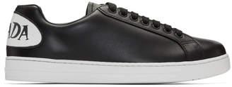 Prada Black Comic Patch Sneakers