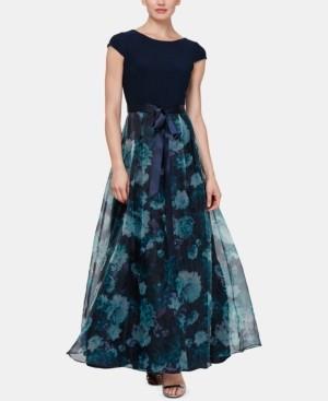 SL Fashions Floral-Organza Gown