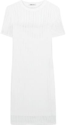 alexanderwang.t Cutout Stretch Cotton-blend Mini Dress