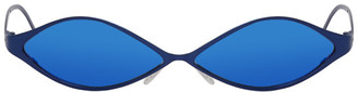 GmbH Blue Metal Sunglasses