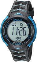 Skechers Men's 'Chevron Strap' Quartz Plastic Casual Watch, Color:Black