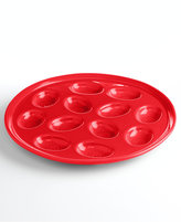 Fiesta Scarlet Egg Plate